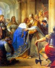 Entrevue de Saint Louis et du pape Innocent IV
