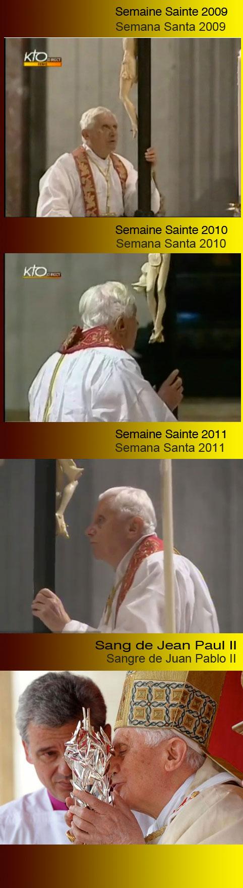 """Le Baisé de Ratzinger à la """"relique de JPII"""