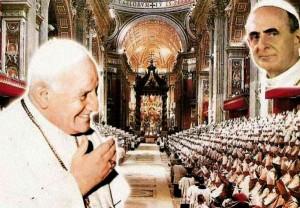 Jean <abbr>XXIII</abbr> et Paul VI de Vatican d'Eux