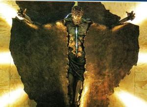 Agrandissement du personnage sur l'affiche des <abbr>JMJ</abbr> 2000