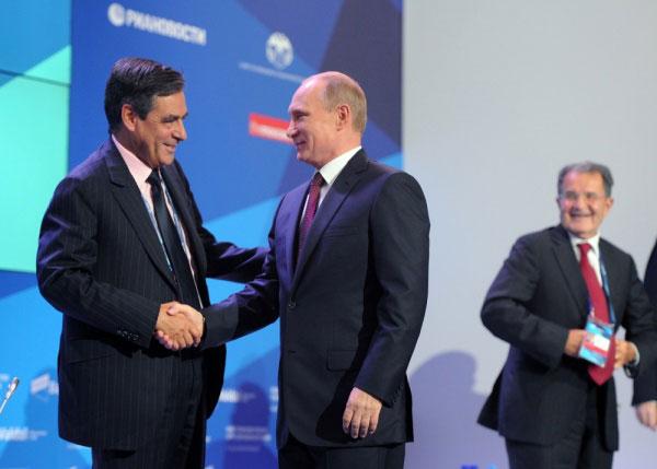 François Fillon et Vadimir Poutine