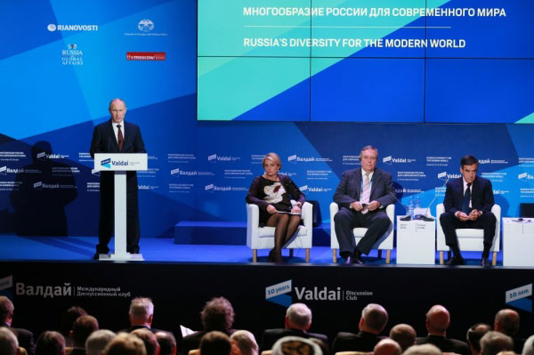 Forum de Valdaï 19 septembre 2013