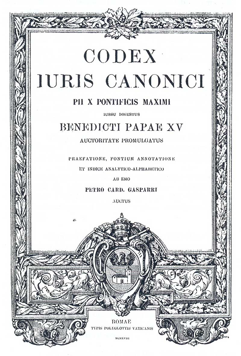 CODEX <abbr>JURIS</abbr> <abbr>CANONICI</abbr>