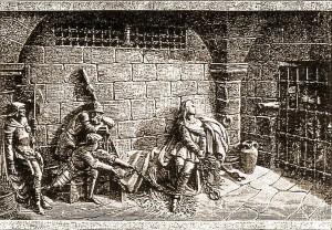 Jeanne d'Arc dans sa prison à Rouen