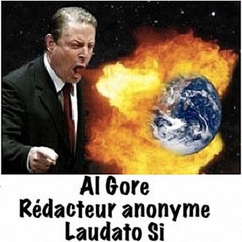 Al Gore rédacteur anonyme de Laudato Si