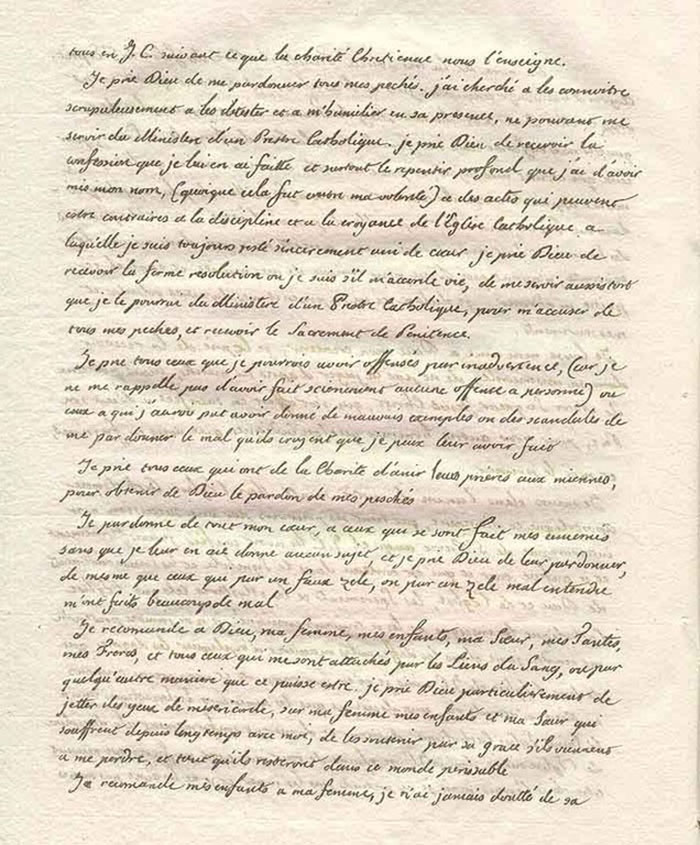 Testament de Louis XVI