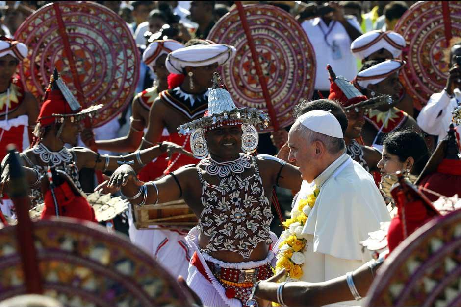 PapeFrançois au Sri-Lanka, 1