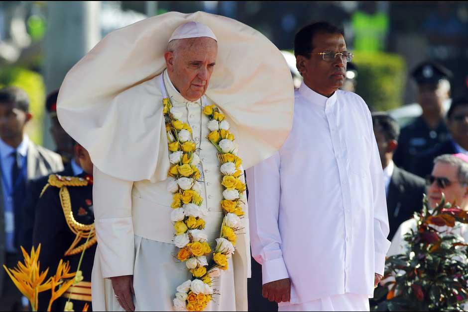 PapeFrançois au Sri-Lanka, 2